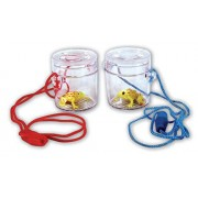 Set of 2 - Early Years Science - School / Pupil Mini Minibeasts / Bugs / Insects MAGNIFYING VIEWER - with neck cord and frog! - 4.5cm - Ideal for school field work by Buzz