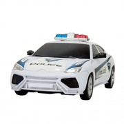 Police Elite High Speed Power Chase Friction Police Car (White)