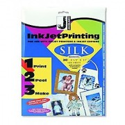 Jacquard Ink Jet Fabric 8.5'' x 11'' Silk Sheets (30 pack)