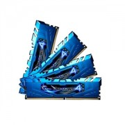 Memorie G.Skill Ripjaws 4 Blue 16GB (4x4GB) DDR4 2666MHz CL16 1.2V Intel X99 Ready XMP 2.0 Quad Channel Kit, F4-2666C16Q-16GRB