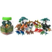 Dinosaur Playset Includes 40 Pieces Of Dinosaurs And Accessories