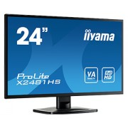 iiyama ProLite X2481HS-B1 24' LED LCD 1920x1080 VA 250cd/m² 12M:1 ACR VGA HDMI DVI 6ms TCO6 speakers