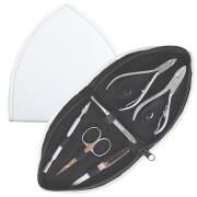 Manikyrset, trekantigt vitt fodral, 6 verktyg