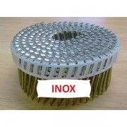 Pointes 16° 2.6x50 mm crantées INOX A2 TB en rouleaux plats fil PVC X 5250