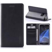 Samsung Galaxy S7 Blue Moon Flip Wallet Case Zwart