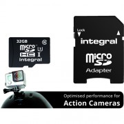 Card Memorie Action Camera Micro SDHC CL10 UHS-1 90/45 MBS 32GB Integral