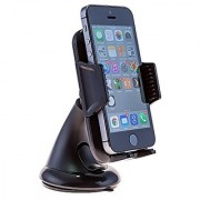 Smartpower-X HSFSP-101 Smart Fit Windshield Dashboard Car Mount Holder Universal 360 Degree Rotational Car Phone Cradle for iPhone 6 (4.7) /5s/5c/4s Galaxy S4/S3/S2 HTC One - Retail Packaging - Black