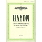 EDITION PETERS HAYDN JOSEPH - 6 EASY DIVERTIMENTI (SONATAS) - PIANO Partition classique Piano - instrument à clavier Piano