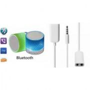 ETN Music Mini Bluetooth Speaker(S10 Speaker) And Audio Splitter for GIONEE DREAM D1