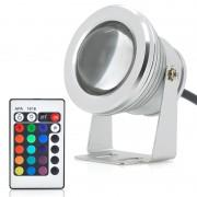 Projecteur LED exterieur 10W - Couleur RGB / Telecommande / Etancheite IP66