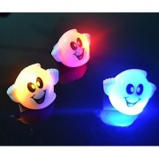LED Light Up Flashing Halloween Party Favor Rings - Various Styles by Mammoth Sales (Ghosts)