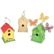 Design Your Own! Wooden Birdhouses (1 dozen) - Bulk