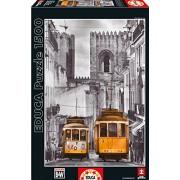 Educa 16311 - Puzzle 1500 The Alfama District, Lison Coloured Black & White
