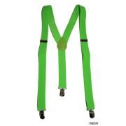 Bretele petrecere fluorescente verzi - Cod 60829