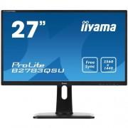 Monitor iiyama B2783QSU-B1, 27'', LCD, 1ms, 2560x1440, 350cd, 12M:1 ACR, DVI-D, HDMI, DP, USB, repro, pivot, výšk.nastav.