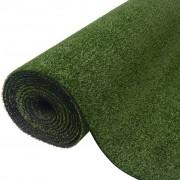 vidaXL Изкуствена трева, 1x5 м / 7-9 мм, зелена