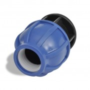 vidaXL PE конектор стопер 16 бара, 32 мм, 2 броя