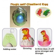 Magic self-Dissilient Dinosaur Egg (1). Color: BLUE, with Hatchery Dome Kit Ready to Hatch a New Bor