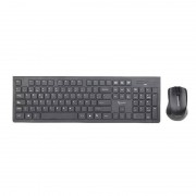 Kit tastatura si mouse Gembird KBS-WCH-01Slim Wireless Desktop Set Black