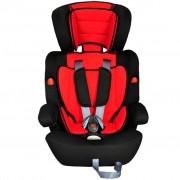 vidaXL Scaun auto pentru copii grupa I II III 9-36 kg roșu negru