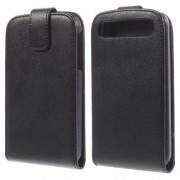 Husa Flip Vertical Blackberry Classic Q20 Piele PU Neagra