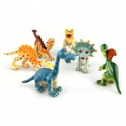 Las nuevas figuras animales del dinosaurio plastico duro de la historieta del PVC fijaron (6PCS / Set)