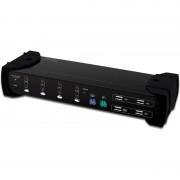 Digitus Dual VGA Combo KVM Switch, USB + PS/2 + Audio + Hub