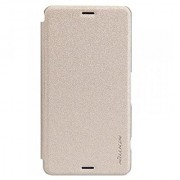 Nillkin Sparkle Leather Case for Sony Xperia Z3 (L55) - Retail Packaging - Golden