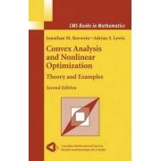 Convex Analysis and Nonlinear Optimization by Jonathan M. Borwein