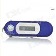 "Portable 1.2 ""TFT USB Digital MP3 Player w / FM - Bleu (8 Go / 1 x AAA)"