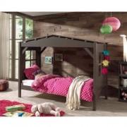 VIPACK Łóżko drewniane dla dziecka pojedyncze Pino - sosnowy domek