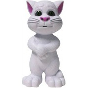 Talking Tom Interactive Toy Talks Back Mimicry Cat Copy Voice Pet Gift White