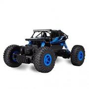 Teckey RC Coche De Vehículo De Carretera De Alta Velocidad 25km / h 1:18 De Escala 100M De Control Remoto 20mins Tiempos De Reproducción 4WD Fast Race Camión 2.4GHz Electric Buggy Hobby Car (azul)