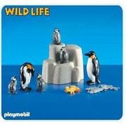 2 Emperor Penguins with Babies