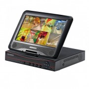 DVR 4 Canale CCTV cu LAN si Monitor LCD 10 Inch