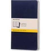 Moleskine Squared Cahier L - Navy Cover (3 Set) by Moleskine