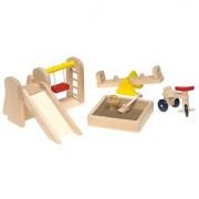 Small World Toys RyanS Room Wooden Doll House -Play Around Playground Set