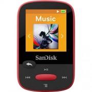 CLIP SPORT SDMX24-004G 4 GB FLASH MP3 PLAYER - RED