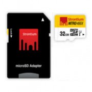 Strontium Nitro Micro SDHC 466X UHS-1 Card with Adaptor - 32GB