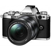 Aparat Foto Mirrorless Olympus E-M5II 1415II Kit, 16 MP, Filmare Full HD (Argintiu)