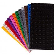 Premium Big Briks 12 Color Baseplate Set - 12 Pack - (Big LEGO DUPLO Compatible) - Large Pegs
