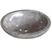 Entorno Baño Lavabo de piedra Mármol LAMPUR ovalado gris