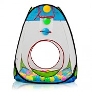 Dimple Children's Pop Up Tent with Basket Ball Hoop & 100 Balls DC11610 Playhouse
