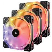 Corsair HD Series HD120 RGB LED 120mm High Performance RGB LED PWM three fans with controller