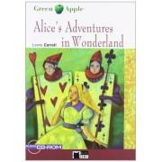 Cideb Editrice S.R.L. Alice's Adventures In Wonderland. Book (+CD) (Black Cat. Green Apple)