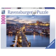 Ravensburger puzzle praga noaptea, 1000 piese
