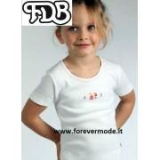 FDB Maglia bambina FDB manica corta in caldo cotone con stampa