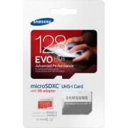 Card de memorie Samsung Evo+ microSDXC 128GB Class10 UHS-I + Adaptor