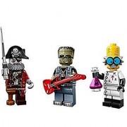 Lego Collectible Minifigures Series 14 (71010) Bundle: Crazy Scientist Monster Rocker Frankenstein & Zombie Pirate
