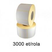 Role de etichete semilucioase 58x43mm